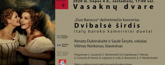 "Concert ""Double-voiced heart"" at Vasaknos Manor"