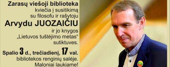 Susitikimas su Arvydu Juozaičiu, 2018-10-02