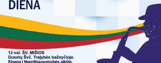 Kovo 11 d. renginiai Dusetose, skirti Lietuvos Nepriklausomybės dienai paminėti