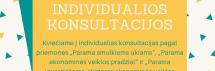 """Individualios konsultacijos ,,Parama smulkiems ūkiams"""", ,,Parama ekonominės veiklos pradžiai"""", ,,Parama investicijoms, skirtoms ekonominės veiklos kūrimui ir plėtrai"""", lapkričio 21 d., Zarasų r. savivaldybėje"""