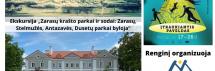 Nemokama ekskursija po Zarasų parkus rugsėjo 26 d.