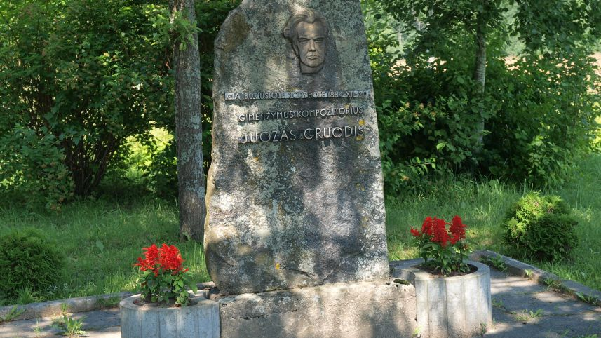 The birthplace of a composer Juozas Gruodis