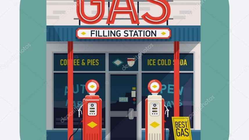 Dusetos liquid gas station