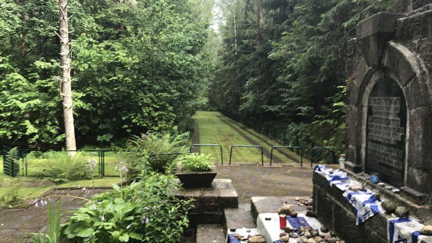 Место массовой гибели еврейского населения в Кракинском лесу