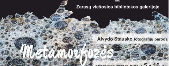 "Alvydas Stauskas photography exhibition  ""Water metamorphoses"""